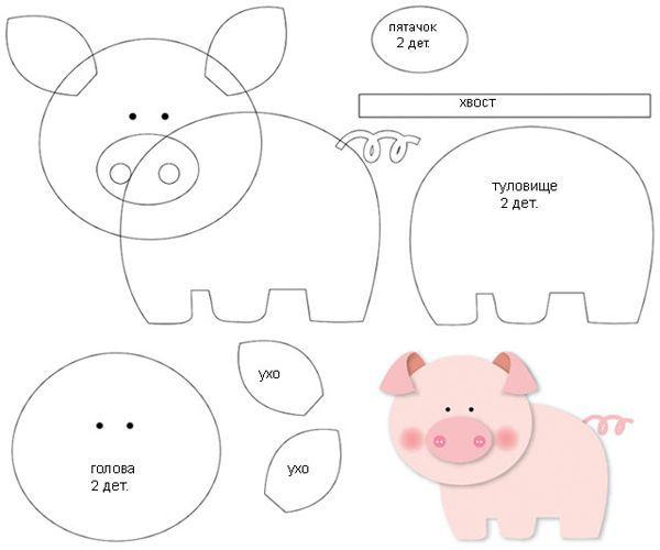 Поделки на Новый год 2019 своими руками - символ года Свинья